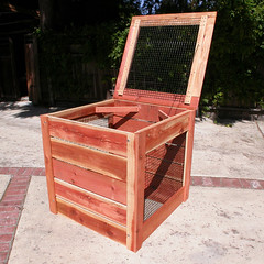 "1-Bin Redwood Compost Bin - side • <a style=""font-size:0.8em;"" href=""https://www.flickr.com/photos/87478652@N08/8048275566/"" target=""_blank"">View on Flickr</a>"
