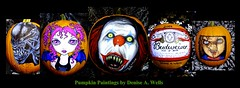 Halloween Facebook Banner -Pumpkin Paintings - Denise A. Wells - Halloween Facebook Banner