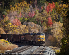 Down the grade (Dave Arnold Photo) Tags: railroad usa mountain tree fall up train utah us photo ut track fallcolor image arnold picture rr pic grade photograph unionpacific locomotive coal helper uprr mainline downgrade soldierssummit davearnold mountaintrain davearnoldphotocom mygearandme
