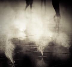 Mirror, mirror on the floor... (Cyrielle Beaubois) Tags: people france water fog mirror eau bordeaux steam 5d miroir septembre 2012 canonef70200mmf40lusm canoneos5dmarkii cyriellebeaubois