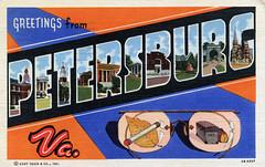 Greetings from Petersburg, Virginia - Large Letter Postcard (Shook Photos) Tags: virginia linen postcard petersburg postcards greetings linenpostcard bigletter petersburgvirginia largeletter largeletterpostcard linenpostcards largeletterpostcards bigletterpostcard bigletterpostcards 2bh227
