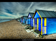 Herne Bay Beach Huts (EXPLORED) (Kevin HARWIN) Tags: uk sea beach water canon eos pier kent sand south sigma east huts 1020mm hernebay 60d