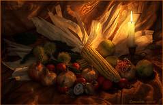 Natura morta!....... (leon.calmo) Tags: canon mais di candela melograno riccio castagna naturamorta lume eos50d leoncalmo mallodinoce