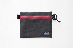 Flat Pouch Ash Red 02 (Imagery Bags) Tags: zipper ykk waterresistant flatpouch drypouch