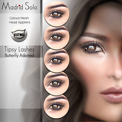 Tipsy Lashes(Butterfly)-Catwa Applier (Madrid Solo) Tags: madridsolo catwa applier butterflies eyelashes lashes