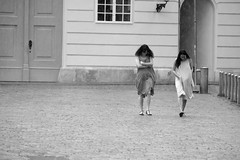 warm summer-rain (PIXXELGAMES - Robert Krenker) Tags: blackandwhite bnw biancoenero rain summerrain fujifilm fujinon pro2 xpro2 twogirls girls longhairs wethairs shoes makeup summer dress fashion snapshot vienna wien monochrome street streetstyle candid wetclothes