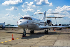 Moscow region, Vnukovo, Russia - July 02, 2016: (Andrey Khachatryan) Tags: air aircraft airline airliner airplane airport atmosphere aviation background baggage blue bombardier business challenger closeup corporate departure engine flight front fuselage gear ground jet jetliner landing light luggage luxury main modern money nose photo plane private rich runway sky spotting sun sunny takeoff technology transport transportation travel vehicle view white