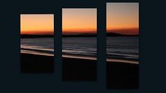 Noosa sunset (Gillian Everett) Tags: sunset collage noosa mainbeach queensland triptych