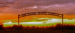 Gem Island Sports Complex (http://fineartamerica.com/profiles/robert-bales.ht) Tags: gemcounty idaho misc places scenic states sunrisesunset sportcomplex bridge red sunset sunrise emmett arch layered trees silhouette treasurevalley emmettvalley landscape haybales canonshooter sensational spectacular magnificent peaceful surreal sublime magical inspiring inspirational yellow idahophotography gemcountyphotography sunsetphotography southwest wow stupendous superb tranquil beauty horizontal panoramic usa softball baseball soccer summer greetingcards
