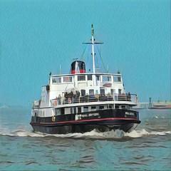 Ferry 'Cross The Mersey (R~P~M) Tags: ship boat ferry mersey river birkenhead merseyside england uk unitedkingdom greatbritain prisma