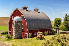 Est. 1919 (garshna) Tags: rural red barn truck sky blue