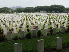 Bomana War Cemetary, here many Australians are buried after WW2