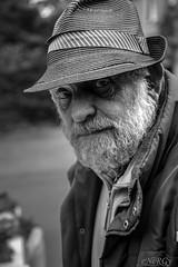 Farmer in the Peak District (deltic17) Tags: old farmer gentleman wrinkles hat peak peakdistrict derbyshire blackwhite monochrome photography sales pub therambler beard story lived interesting carrot jam edale canon canon5dmk3 canonraw raw weather rain cloudy moors rambler walking hiking