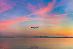 When the sky decides to show off😏🎨 #YVR ✈️#prettyinpink 💕 (Sonika Arora 604) Tags: yvr yvrairport richmond richmondbc britishcolumbia beautifulbc beautiful ionabeach ionabeachregionalpark airplane airport airplanes plane sunset sun pink clouds cottoncandy blue colours water reflections reflection explorebc explorecanada explorevancouver explorerichmond nikon nikonphotography nikonphotographer nikonphotographers nature naturallight natural landscapephotography landscape outdoors outdoor canada vancouver vancity mountains