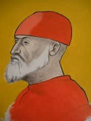 Copy Of Vittore Carpaccio Drawing (JeremiahGC) Tags: painting portrait man acrylic watercolorportrait oldmaster artist
