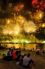Fire works in Dubai (Laith Shanshal) Tags: fireworks fire works eid adha eidadha dubai jumeirah beach night light lights happy celebrate sky reflection nikon sigma photojornalasim