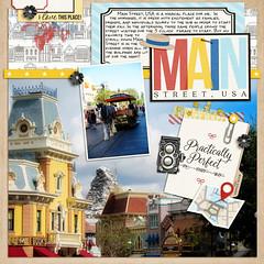 Main Street Cover (girl231t) Tags: zzmyscrapbookpages 0scrapbooking digi scrapbook layout 12x12layout disney disneyland projectmouse 2016