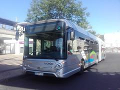 Lacroix rseau Le Parisis Heuliez GX 437 hyb ED-091-ED (95) n1050 (couvrat.sylvain) Tags: cars lacroix hybride articul heuliez heuliezbus gx437 gx 437 parisis gare autobus bus sartrouville beauchamp