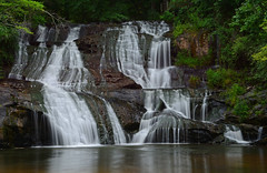 Cane Creek Falls Close Up (davidwilliamreed) Tags: rocks trees nature longexposure