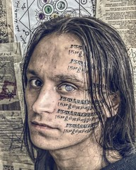 cultist (maratfattakhov) Tags: hindi tattoo face portrait vertical supernatural cultist ctulhu lovecraft