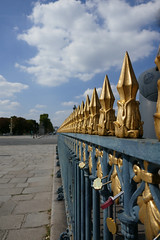 Fence around the Obelisk, Place de la Concorde, Paris (Monceau) Tags: iron fence obelisk placedelaconcorde paris gold finials spikes