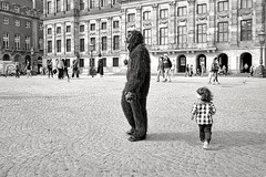 Don't startle the gorilla ! (Mr.White@66) Tags: bw monochrome blackandwhite biancoenero fujifilm fujifilmx70 amsterdam thenetherlands holland gorilla