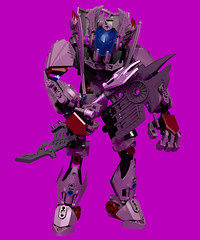 Halfire Reborn 3 (Folisk) Tags: lego ldd digital designer ccbs hero factory bionicle technic pov metal pursuit weeping edge axe pose