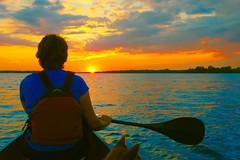 Paddle Impressions... (deanspic) Tags: impression impressionistic vivid byfilter sunset september septembersunset 100paddles 81100 canoe canoeing mary profile bow lakestlawrence g3x