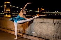balet dancer in the heart of Budapest #7 (gab.imre) Tags: balet dancer dance budapest hungarian girl night nightshot flash chainbridge art