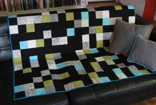 Chequers throw quilt