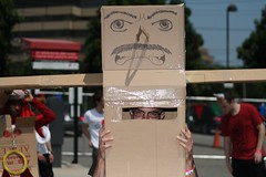 When cardboard robots attack (W1N9Zr0) Tags: anime robot cosplay cardboard convention 2012  atomiclollipop