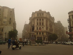 Cairo Sand Storm (Phevos87) Tags: storm heritage architecture downtown day traffic cloudy egypt cairo dust      harb talaat       grouppi