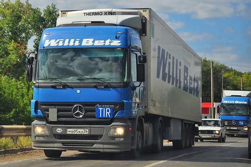 """Mercedes Actros """"Willi Betz\SovAvto Min.Vody\Eurasia Transit"""" (Rus)"""