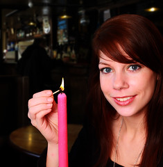 Karla lighting candle montage (Roger Blackwell) Tags: model candle montage femalemodel norfolkpub nostrobistinfo norwichpub removedfromstrobistpool seerule2 modellightingcandle