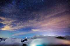 (samyaoo) Tags: park longexposure sunset sea sky mist tree fog clouds star nationalpark taiwan  galaxy national   milkyway  seaofclouds tarokonationalpark nantou       hehuanshan    stunningskies   hehuanmountains