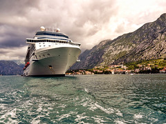 Docked in Kotor (Powder Hunter) Tags: cruise coast dock mediterranean ship cruising unesco worldheritagesite docked adriatic montenegro kotor bayofkotor gulfofkotor celebrityx