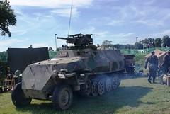 Sd.Kfz 251 Anti-Tank Halftrack (MJ_100) Tags: show men infantry germany fight gun display leicestershire wwii battle german ww2 vehicle soldiers heer reenactment troops reenactors ank 2012 halftrack cosby secondworldwar antitank wehrmacht 251 sdkfz victoryshow