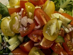 305|366: saturday - salad day (Queen Breaca (on ipernity)) Tags: red food yellow salad tomatoes 305366 thechallengefactory queenbreaca canonpowershotg12 3662012thegreatleapforward 36620128sep2012