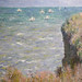Monet, Cliff Walk at Pourville, with detail of cliff