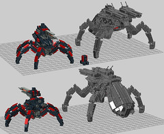 Megalith WIP03 A (OrangeKNight) Tags: brick scale experimental lego crab micro forged mecha commander fa bot supreme mech alliance t4 megalith