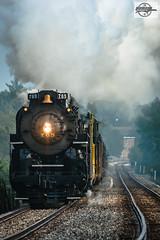 Southbound NKP 765 and NS Employee Appreciation Train at Decatur, IL (Mo-Pump) Tags: railroad train locomotive railfan railroader