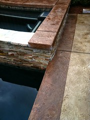 "NewtDark Gray spa with stamped concrete deck • <a style=""font-size:0.8em;"" href=""http://www.flickr.com/photos/71548009@N02/7983966196/"" target=""_blank"">View on Flickr</a>"