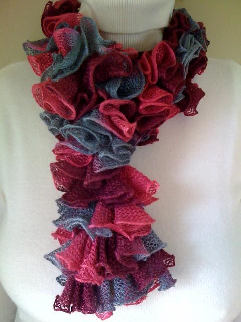 Ravelry Double Crochet Ruffled Scarf Pattern By Tanis Galik