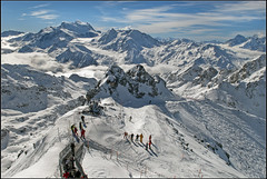 Swiss winter time - The Grand Combin (4,314 m )  taken from Mont Fort (Verbier) . February 25, 2011. ( 1118 ) (Izakigur) Tags: summer mountains alps alpes liberty schweiz switzerland nikon europa europe flickr suisse suiza swiss feel d200 helvetia nikkor svizzera wallis ch valais verbier dieschweiz montfort musictomyeyes  suizo romandie suisseromande  myswitzerland lasuisse nikond200 nikkor1755f28    photosandcalendar izakigur panoramafotogrfico cantonduvalais  suisia laventuresuisse flickrsportal izakiguralps izakigur2011