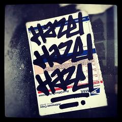 HAZEL (billy craven) Tags: chicago graffiti sticker tag hazel slap fk fkc handstyles uploaded:by=instagram
