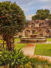 Fountain of the Convent of Santa Clara , Antigua Guatemala (janusz l) Tags: santa clara fountain beautiful saint garden ruins guatemala antigua imagination convent janusz leszczynski 120926 conventode 9162012