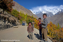 Hunza Youth (khalilshah) Tags: blue autumn snow mountains tree kids youth clouds flickr shine front hills explore national page hunza snowcovered flickrexplore explorefrontpage kidsofpakistan autumninhunza pakistan hunzayouth youthkarimabad