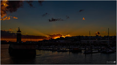 Ramsgate Harbour Sunset (LeePellingPhotography.co.uk) Tags: blue light sunset sea sky orange lighthouse house yellow wall clouds port boats kent harbour lee nd rays filters grad isle ramsgate thanet pelling ndgrads