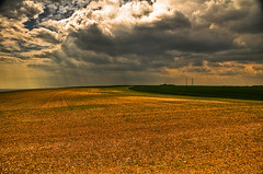 Cumulo Artistus (An Artist's Clouds) (tawagjohncarlo@ymail.com) Tags: uk light england lighthouse white tower mike field sunshine clouds painting golden artist painted cliffs canvas hour electricity rays plain dover bracketing cumulo artistus