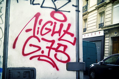 Aight (Streets of paris) Tags: paris graffiti tag throwup handstyle